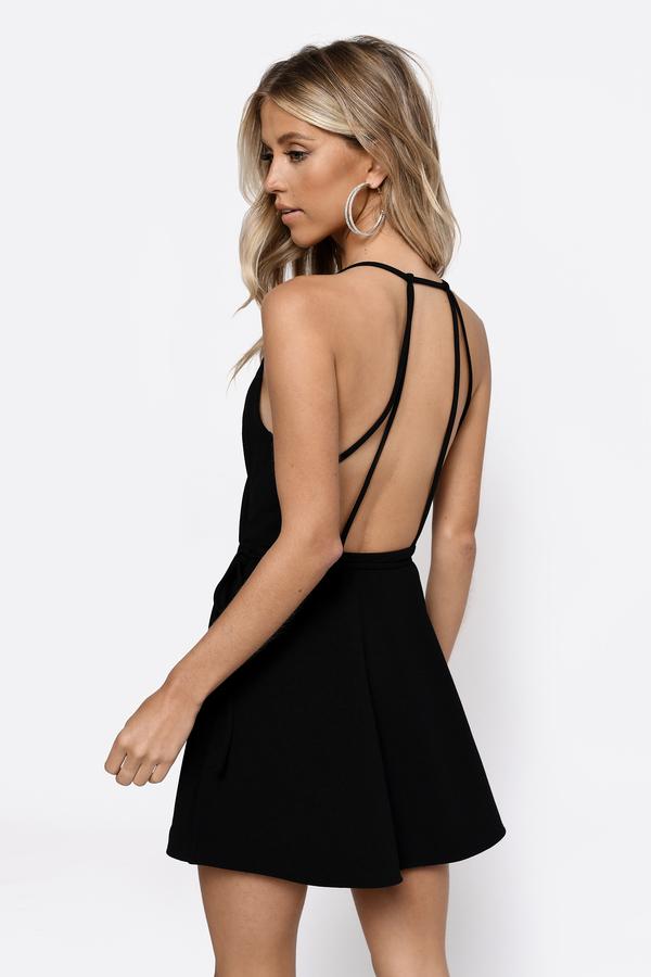 231e3d10b9 ... Yasmine White Wrap Skater Dress ...