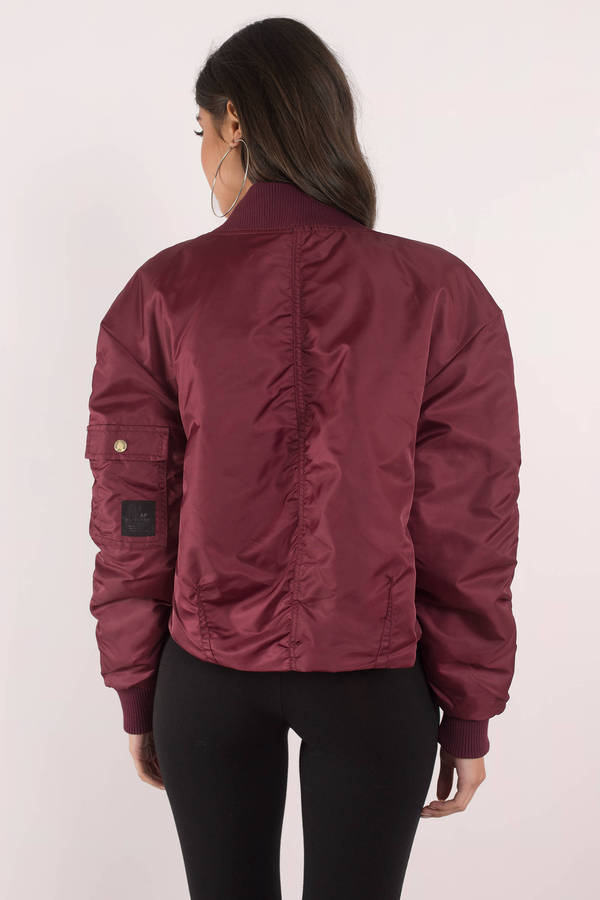 Cheap Monday Delusion Blood Red Bomber Jacket - NZ$ 249 | Tobi