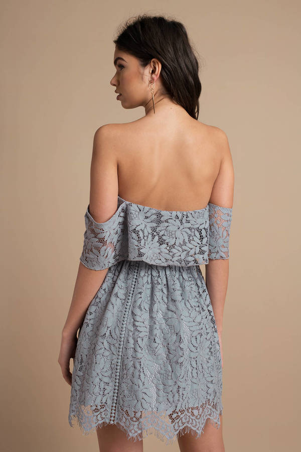 Kinsley Lace Ruffle Skater Dress