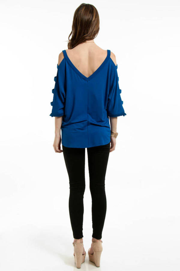 Ladder Sleeve Knit Top