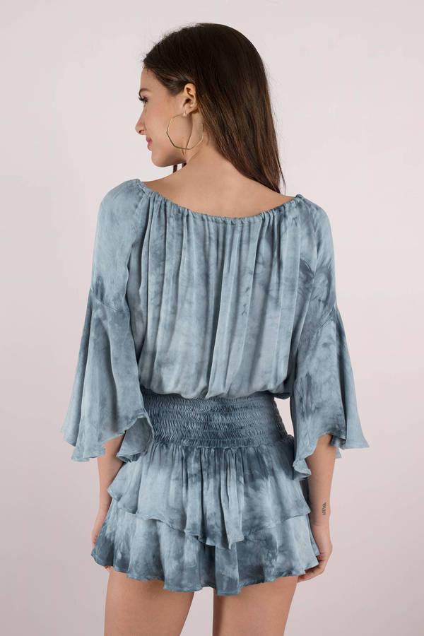 f9c39d95950 ... Blue Life Blue Life Summer Dream Blue Multi Smocked Waist Dress ...