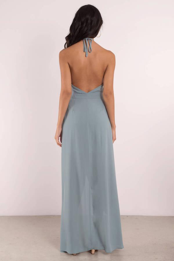 Black Dress - Keyhole Dress - Backless Dress - Sleeveless Maxi Dress ...