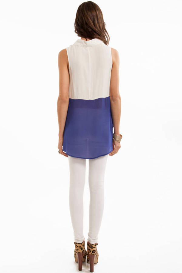Setto Two Toned Blouse