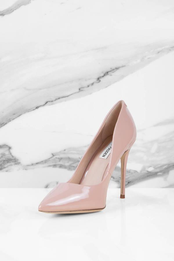5c5b8f69da717 Blush Pink Steve Madden Heels - Designer Pumps - Blush Pink Leather ...