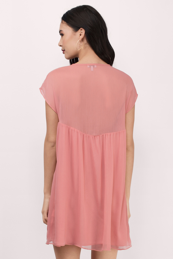 8fc64de128 Cute Blush Day Dress - Button Down Dress - Day Dress - AU  21