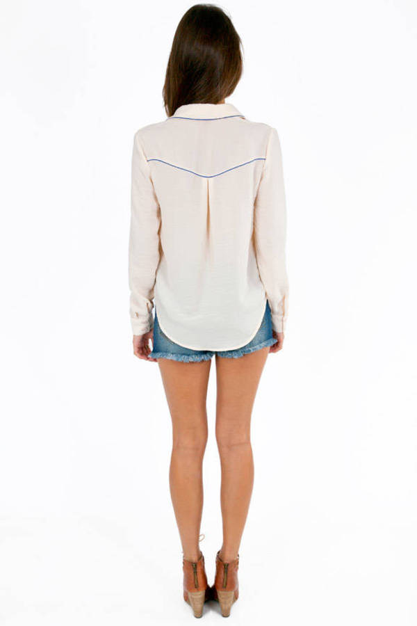 Western Button Front Top