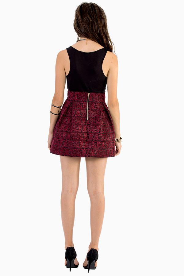 English Rose Emboss Me Around Skirt