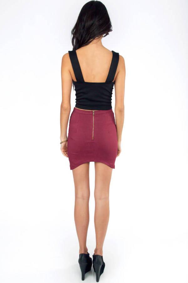Jinell Leopard Contrast Skirt