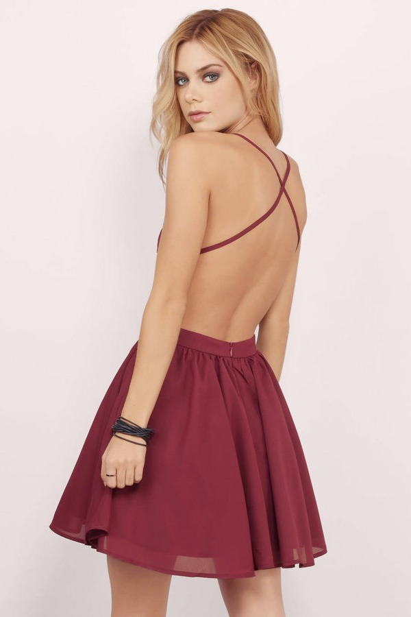 6264968cee Chic Red Skater Dress - Lace Cami Dress - Red Dress Rehearsal Dress ...