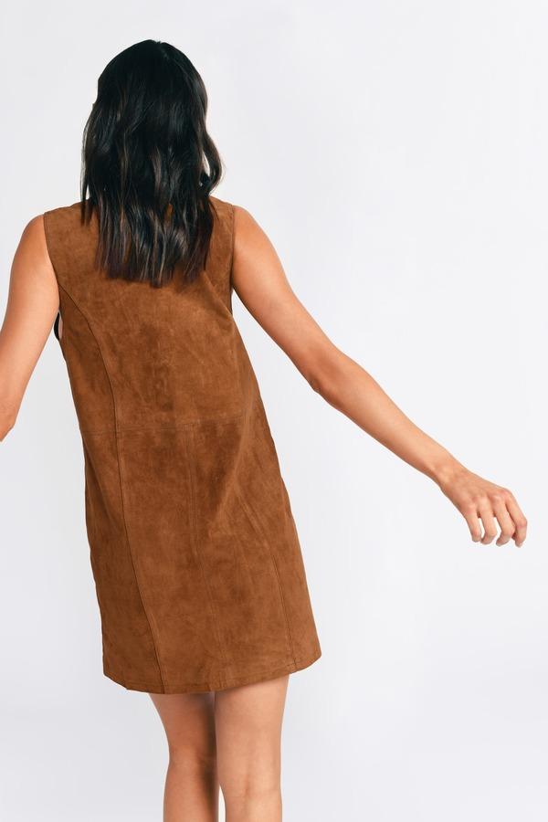 Cute Camel Shift Dress - Brown Dress - Lace Up Dress - Shift Dress ... 0804c322c