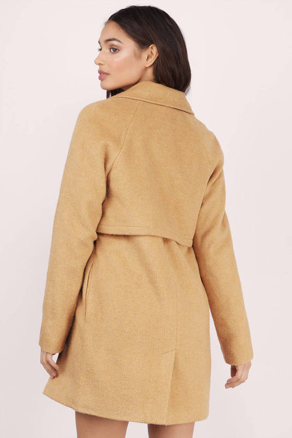 Cheap Camel Coat - Brown Coat - Trench Coat - $39.00