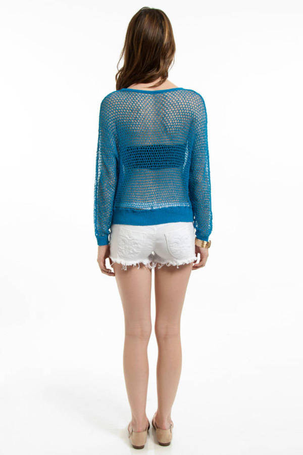 Needle Knit Cropped Sweater