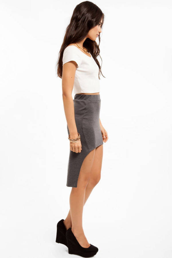 Patrice Hi Low Pencil Skirt
