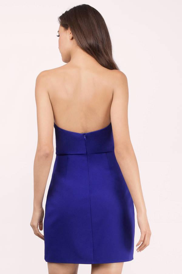 0b6d4dc8a3 Cute Cobalt Bodycon Dress - Strapless Dress - Bodycon Dress -  15 ...
