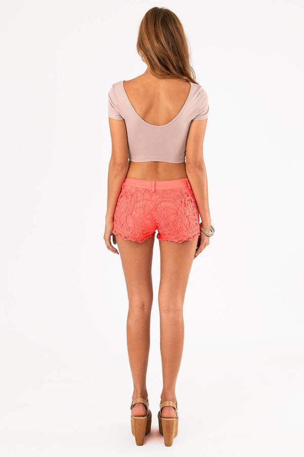 Lace Crochet Shorts