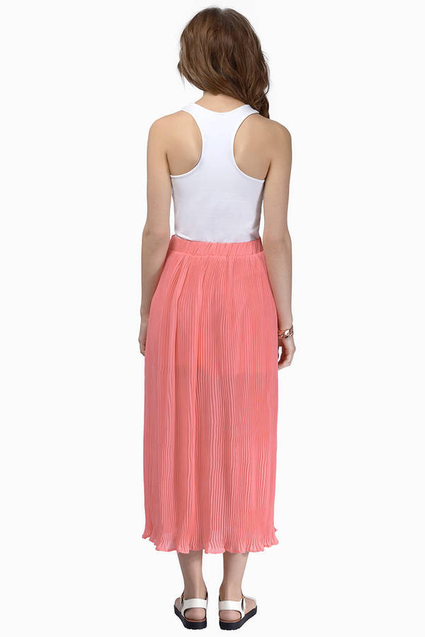 Pleat The Way Maxi Skirt