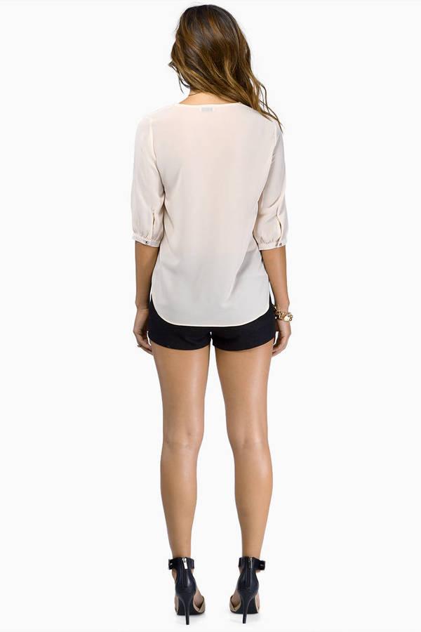 Lizzy Zipper Front Blouse