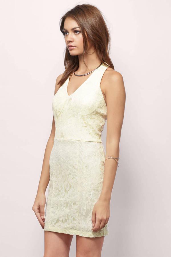 Cream Bodycon Dress White Dress Strappy Dress Cream Bodycon