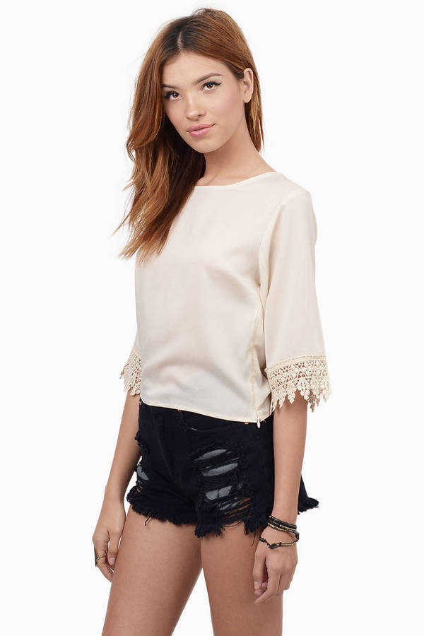 Sophie Crochet Trim Top