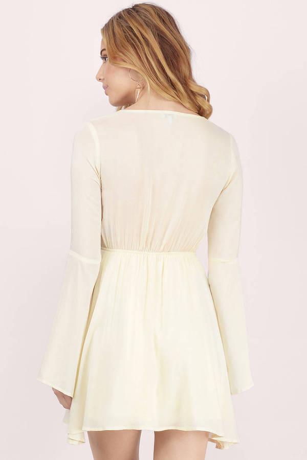 Cream Skater Dress - White Dress - A Line Dress - Cream Skater - C ... af33758e1