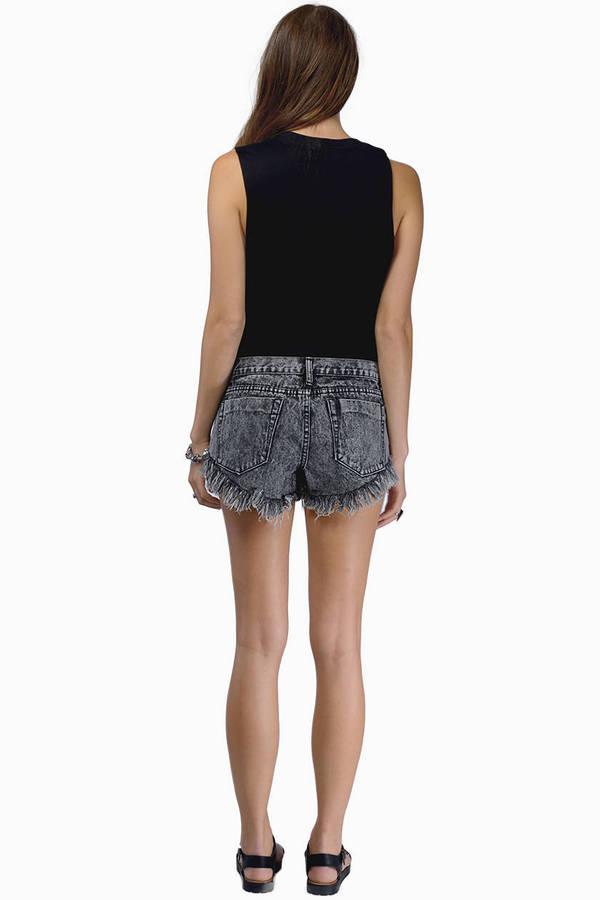 Olympic Denim Shorts