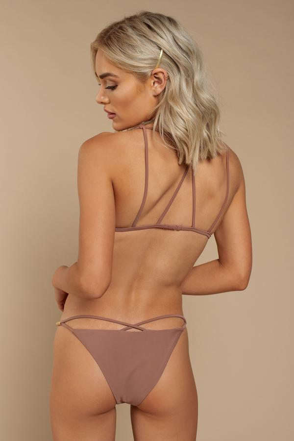 16cacc509d7 Pink Bikini Bottom - Strappy Bikini - Pink Thong Bikini -  8