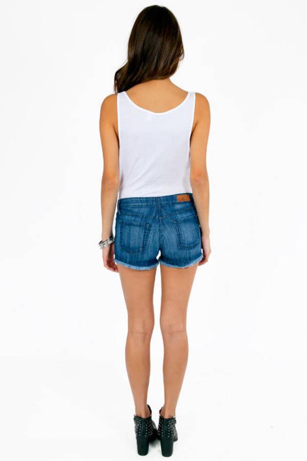 Gayle Ripped Denim Shorts
