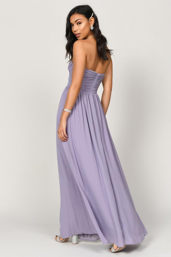 801ef28e97ee Purple Maxi Dress - Homecoming Dress - Purple Surplice Bodice Dress ...