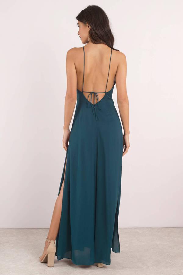 02ff16fa32 Naomi Light Blue Low Back Maxi Dress -  47