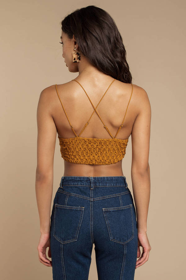 89b7afebba ... Free People Free People Adella Gold Lace Bralette ...