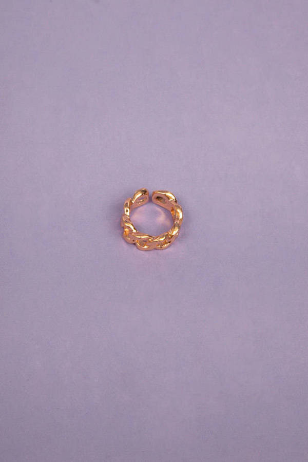 Curb Link Ring