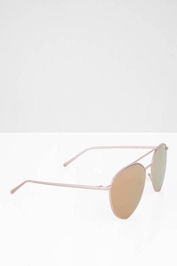 b5ae2ecbf7 ... QUAY Quay Indio Gold   Pink Mirrored Aviator Sunglasses