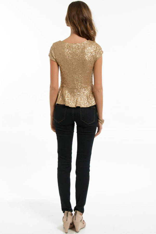 Quinn Peplum Top