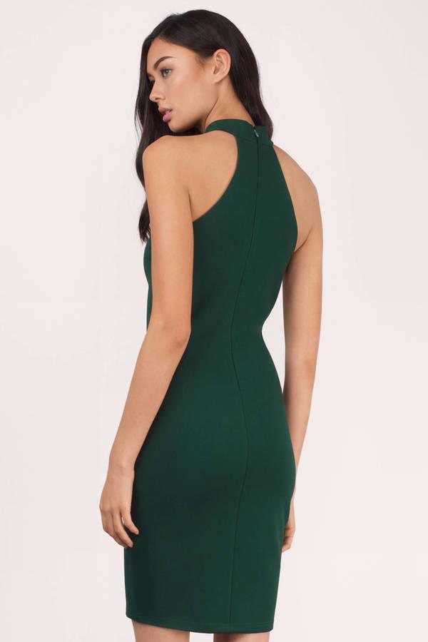 Bare Necessities Green Choker Dress