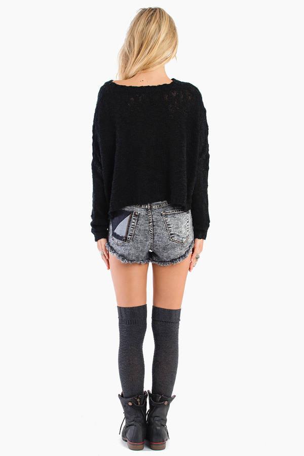 Washed Away Denim Shorts