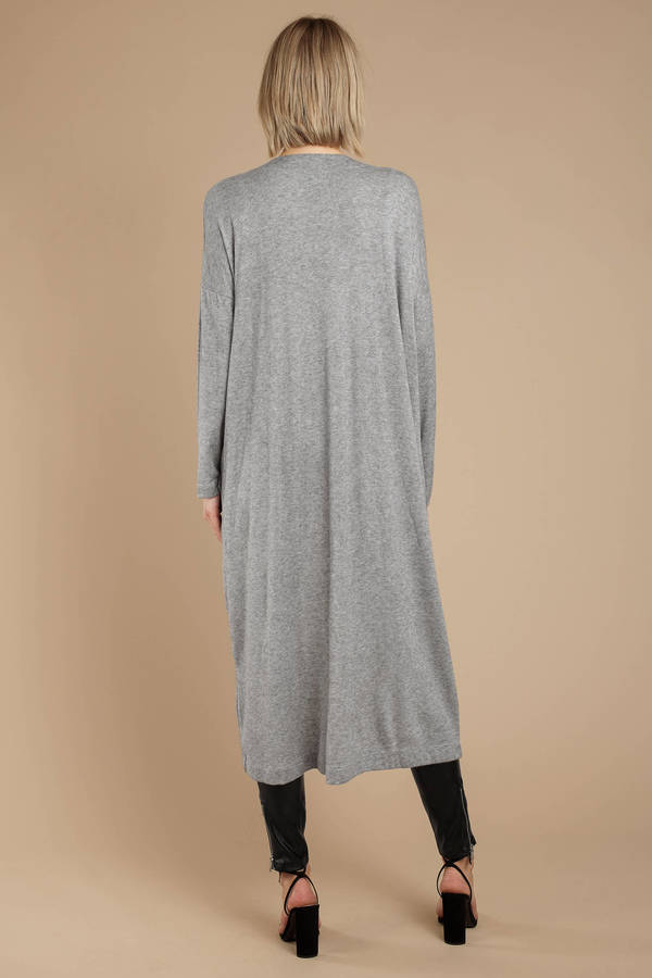 7f00421142c Grey Cardigan - Long Maxi Sweater - Grey Duster Cardigan - £31