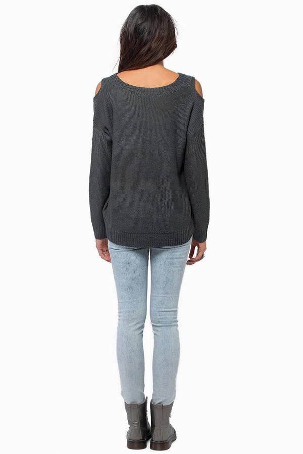 No More Shoulders Sweater