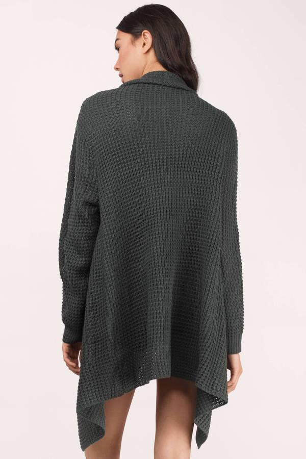 5e25e186ae8 Grey Cardigan - Grey Cardigan - Draped Cardigan - Grey Sweater - £15 ...