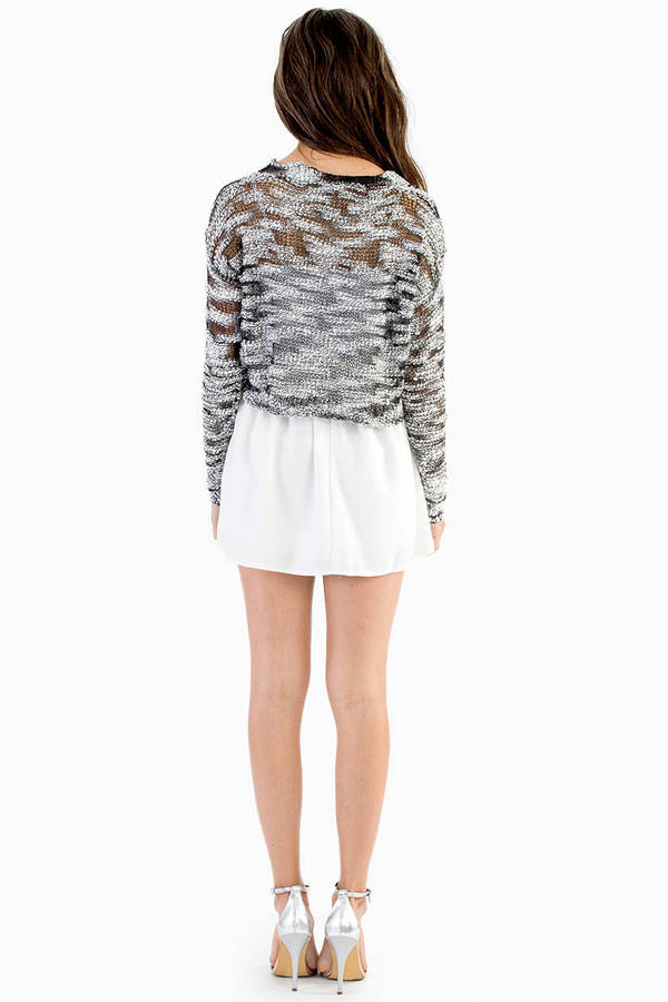Textured Signature Crop Sweater