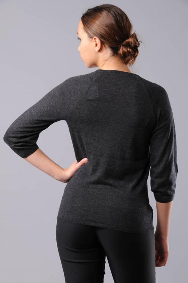 gray front womens black size grayheather annakastle com slouchy sm shawl knit sweater collar heather product open drapes cardigan drape fine