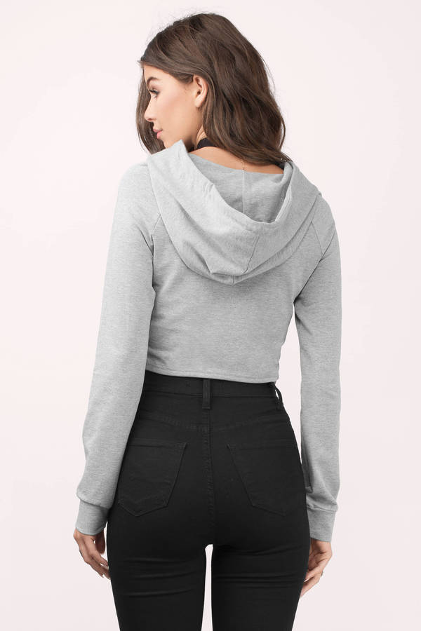 2375dcf00c5 Heather Grey Hoodie - Grey Hoodie - Oversized Hoodie - £14 | Tobi GB