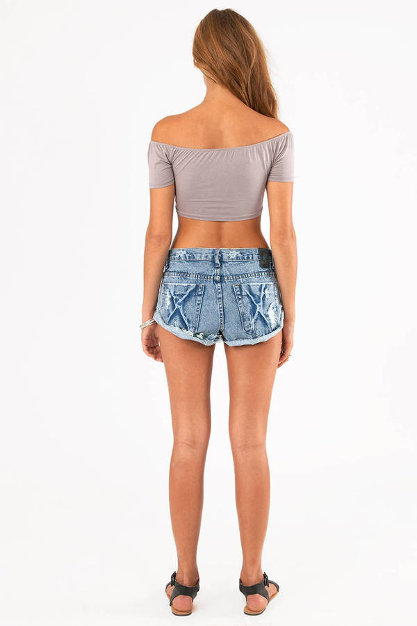 One Teaspoon Bandit Frayed Shorts