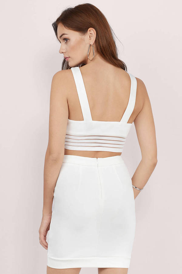 71d17d2a5274 Ivory Bodycon Dress - Ivory Dress - 2-Piece Dress - Ivory Bodycon ...