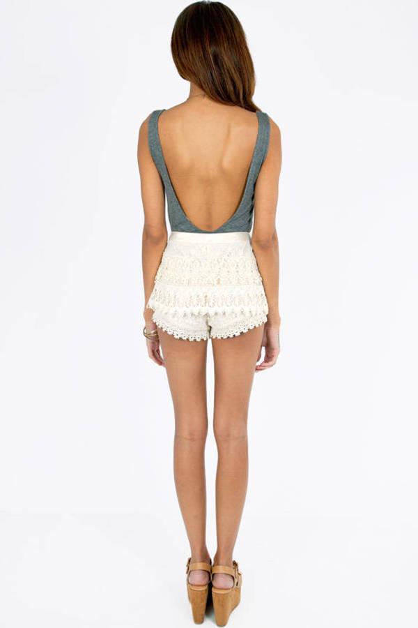 Crochet Floral Shorts