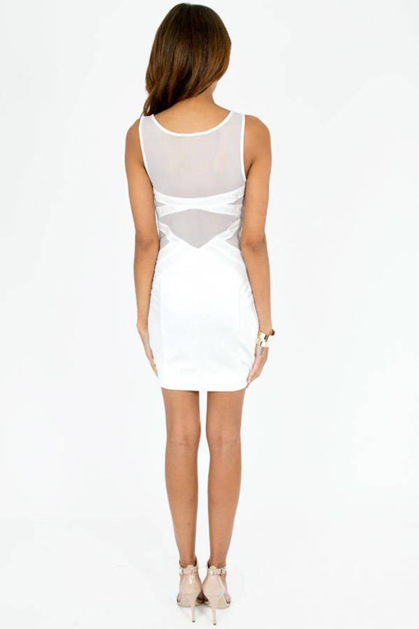Falling Deep V Bodycon Dress