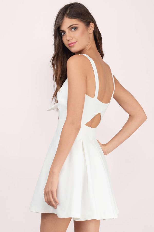 Trendy Blush Skater Dress - Front Tie Dress - Skater Dress -  15 ... 0aa6f826c
