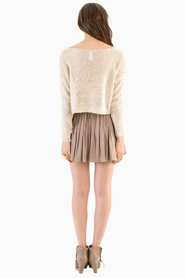 Maine Cropped Sweater