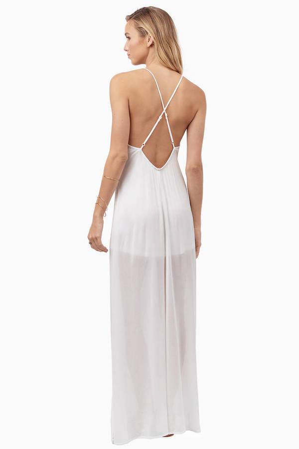 Cute Peach Maxi Dress - Orange Dress - Open Back Dress - $13.00
