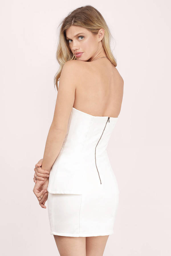 54b3301ab8 Ivory Bodycon Dress - White Dress - Sleeveless Dress - Ivory Bodycon ...