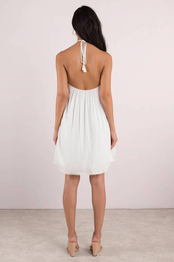 Ivory Halter Dress